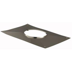 Poujoulat Plaque d étanchéité rectangulaire - Diamètre : 80