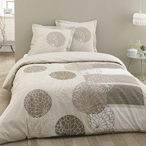 Vision Adele - Housse de couette et 2 taies 100% coton 57 fils (240 x 260 cm)