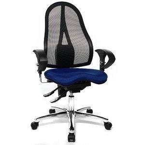 Topstar ST19U G26 - Siège de bureau Sitness 15, avec accoudoirs réglables, revêtements tissu et résille, coloris bleu