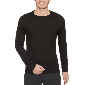 Icebreaker Oasis Crewe Sous-vtement thermique manches longues Homme Noir FR : S (Taille Fabricant : S)