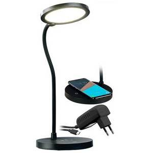 Lunartec Lampe de bureau tactile avec LED variable et chargeur compatible Qi