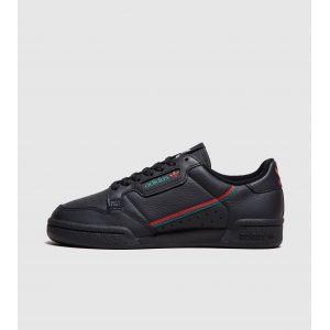 Adidas Continental 80, Basket Homme, Noir Rouge Vert Foncé, 36 EU