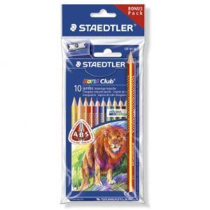 Staedtler Etui de 10 crayons de couleur Noris Club + 2 accessoires