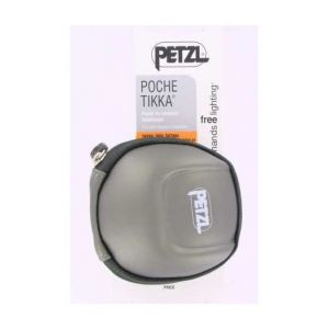 Petzl E93990 Étui Poche pour Lampes frontales compactes TIKKINA Tikka ZIPKA ACTIK et TACTIKKA Noir Argent