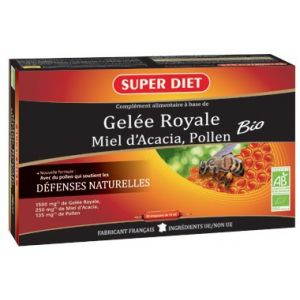 Super Diet Gelée Royale - 30 Ampoules 15 ml
