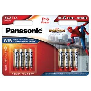 Panasonic Pile LR03PPG/16BW Spider-Man x16
