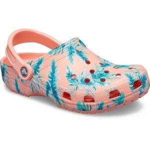 Crocs Classic Seasonal Graphic Clog, Sabots Mixte Adulte, Rose