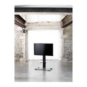 Erard Meuble TV WILL1050L 30-55P noir +TABL & ROUES