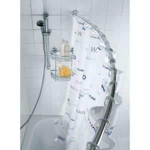Wenko Tringle de douche - Chrome - Arquée - Extensible de 110 à 200 cm
