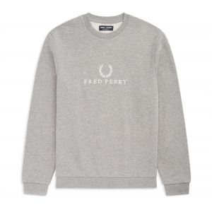 Fred Perry Sweat, Gris - Taille S