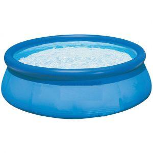 Pegane Piscine autoportante Bleu avec boudin gonflable Dim : H76 x D244 cm