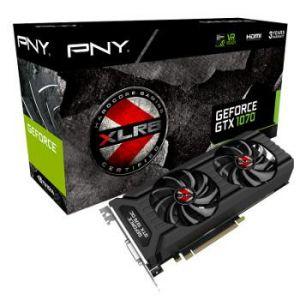 PNY GeForce GTX 1070 XLR8 OC Gaming Dual Fan 8 Go - KF1070GTXXR8GEPB