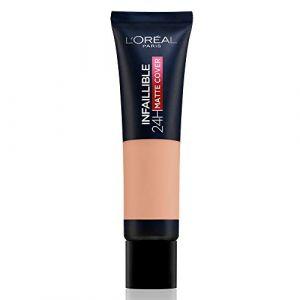 L'Oréal Infaillible Matte Cover Fond de Teint Haute Couvrance Matifiant et Léger - 145 Beige Rosé