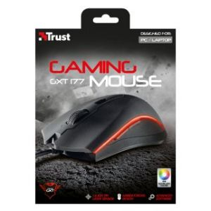 Trust GXT 177 Gaming - Souris filaire Gamer ambidextre laser 14400 dpi