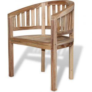 VidaXL Chaise en teck