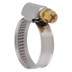 ACE Collier bande non perforée W2 inox /acier zingué - 9 mm - Serrage 16 - 27 mm - Boîte de 50 pièces -
