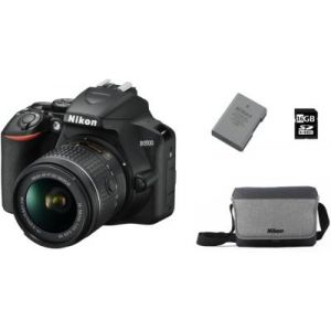 Nikon Appareil photo Reflex D3500+ AF-P 18-55VR + FT+ 16GO+2eme Batt