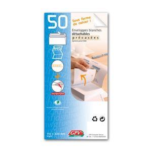 Gpv 50 enveloppes Post Bloc 11 x 22 cm (90 g)