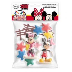 Kit de décorations de gâteau Mickey et Minnie Taille Unique