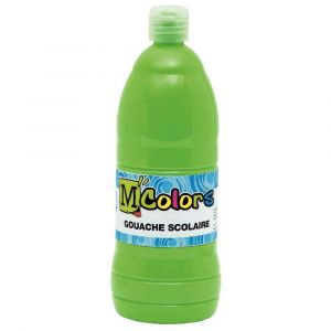M colors 24915 - Gouache liquide coloris vert printemps - Flacon de 1 litre