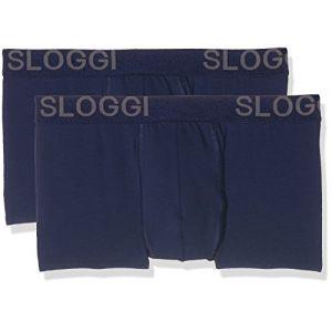 Sloggi Boxer coton stretch MEN AVENUE (lot de 2) Bleu Marine/Bleu Marine - Taille L;M;S;XL;2XL