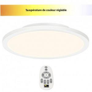 Brilliant AG Dalle LED 36 W blanc chaud, blanc neutre, blanc lumière du jour Smooth G20882/05 blanc