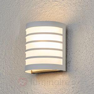 Lampenwelt Applique d'extérieur Calin blanc à rayures