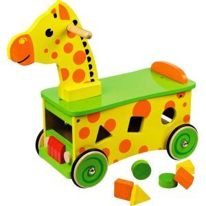 Bigjigs Porteur Girafe avec formes