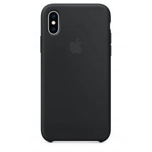 Apple Coque en silicone Noir pour iPhone XS
