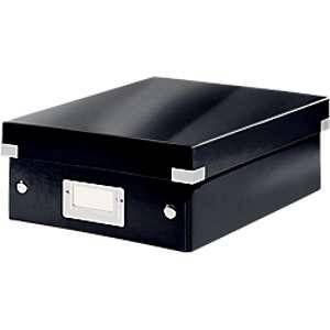 Leitz 6057-00-95 - Boîte de rangement Click & Store, petit format avec compartiments, en PP, coloris noir
