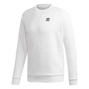 Adidas Essential Crew Sweat-Shirt Homme, White/Black, FR : S