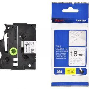 Brother TZe-SE4 - Ruban laminé sécuritaire Noir/Blanc 18 mm