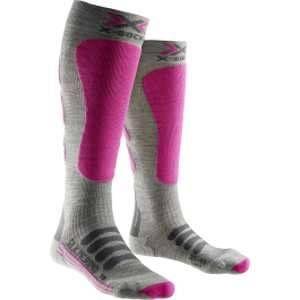 X-Socks En Merino Silk Merino Ski Femme - Gris / Fuchsia - 41-42