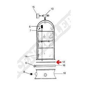 Procopi 408005 - Joint de cuve Posiflo de filtre PF-PTM (240 x 6,8 mm)