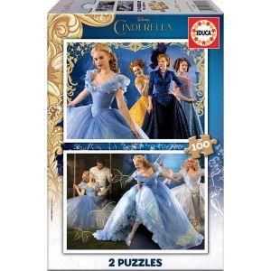 Educa Cendrillon Le Film - Puzzle classique 2 x 100 pièces