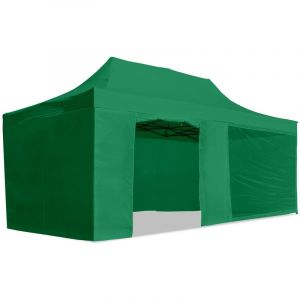 McHaus Tente de réception pliable verte 3x6m + sac de transport