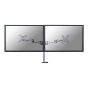 Newstar FPMA-D935DG - Kit de montage ( support de montage pour bureau ) pour 2 écrans LCD - argenté(e) - Taille d'écran : 10'' - 26'' - Interface de montage : 100 x 100 mm, 75 x 75 mm