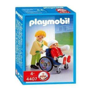 Playmobil 4407 - Maman et son enfant en fauteuil roulant
