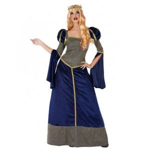 Déguisement Dame Du Moyen-Age - Bleu - Femme - Taille : XL - 42/44, XS/S, M/L