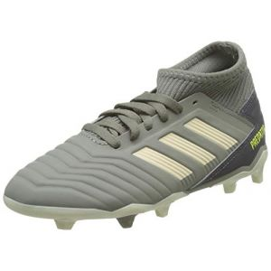 Adidas Predator 19.3 FG J, Chaussures de Football bébé garçon, Vert (Legacy Green/Sand/Solar Yellow Legacy Green/Sand/Solar Yellow), 36 2/3 EU