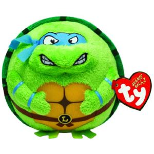 Ty Beanie Ballz Tortue Ninja : Leonardo masque bleu 12 cm