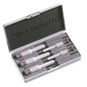 Facom AEF.J2 - Coffret de 5 tournevis à fente Micro-Tech