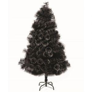 Sapin de Noël artificiel noir avec paillettes effet boule (2m10)