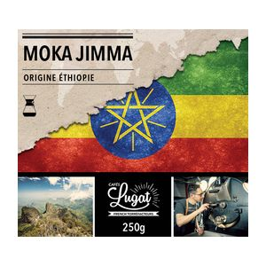 Cafés Lugat Café moulu pour cafetière Hario/Chemex : Ethiopie - Moka Jimma - 250g