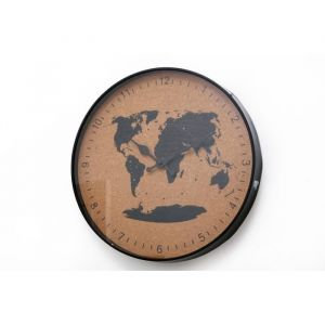 Horloge liège voyage 35 cm Noir et naturel