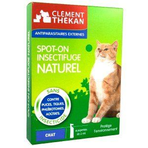Clément Thékan Spot-on insectifuge naturel chat - 4pipettes