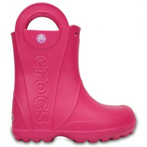 Crocs Handle It,Bottes de Pluie,Mixte Enfant,Rose (Candy Pink), 34/35 EU