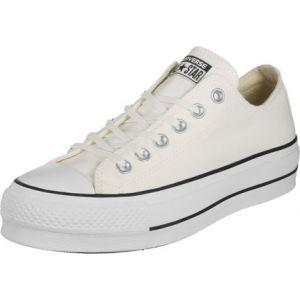 Converse Chuck Taylor Ctas Lift Ox Canvas, Chaussures de Fitness Femme, Blanc (White/Garnet/Navy 102), 41.5 EU