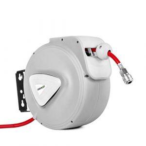 Greencut Enrouleur automatique de tuyau d'air de 10 metres avec support mur