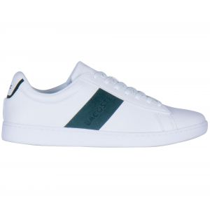Lacoste Chaussures sport avec bande et logo sur le côté. Modèle CARNABY. Blanc - Taille 45